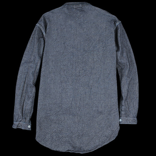 Indigo Weft Denim Tesseract Shirt in Rinse Wash