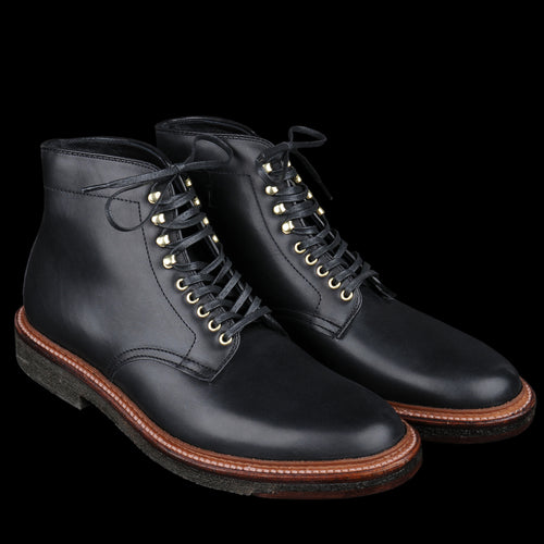 Plain Toe Boot in Black Trapper 4515H