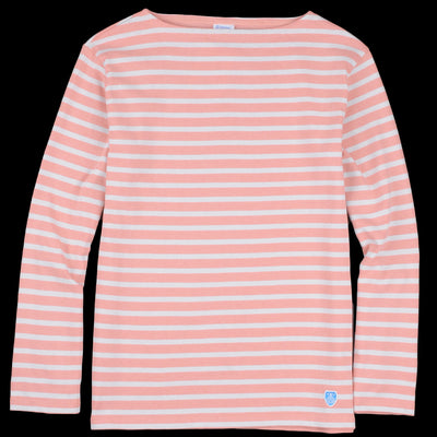 Orcival - Stripe Long Sleeve Tee in Nectar & Cement