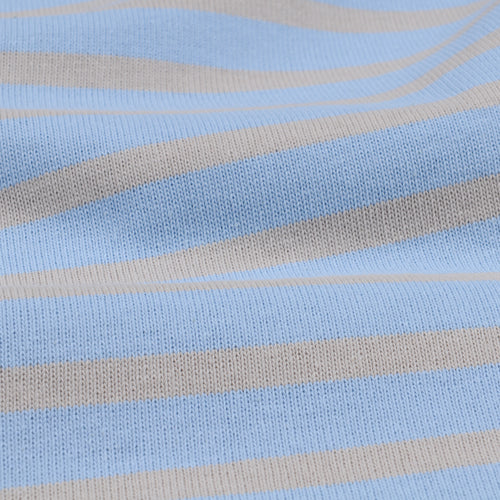 Stripe Long Sleeve Tee in Ice & Clay