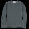 Officine Generale - Japanese Terry Crew Neck Sweatshirt in Olive