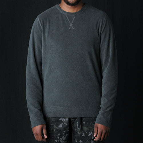 Japanese Terry Crew Neck Sweatshirt in Olive