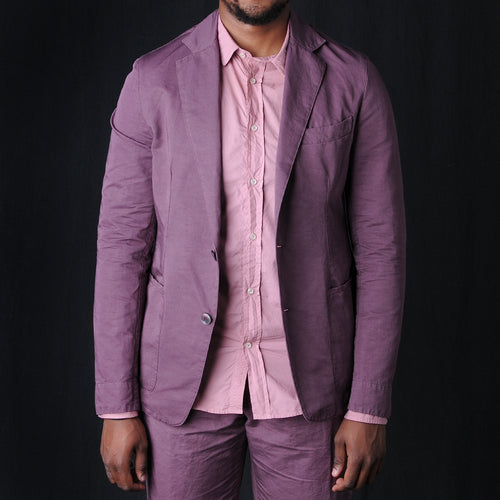 Italian Cotton Linen Lightest Jacket in Mauve