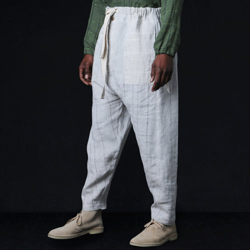 Shalwar Trouser in Natural Check