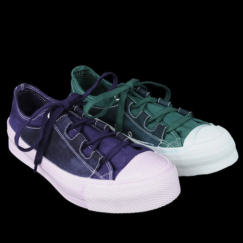 Asymmetric Ghillie Sneaker in Purple & Green