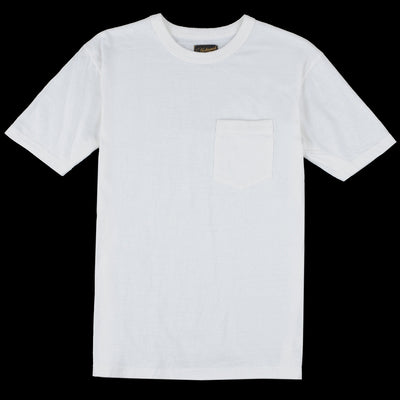 National Athletic Goods - 7oz Jersey Rib Pocket Tee in White