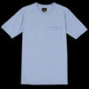 National Athletic Goods - 7oz Jersey Rib Pocket Tee in Washed Blue