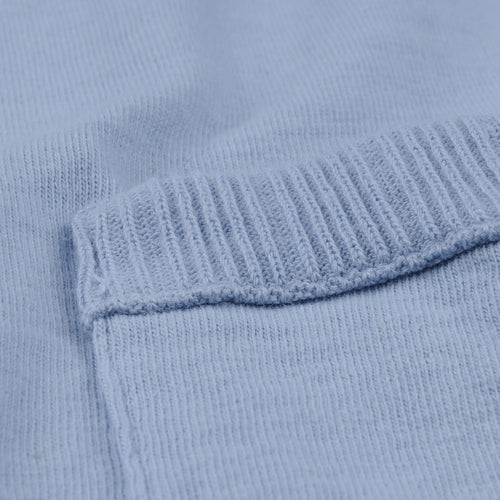 7oz Jersey Rib Pocket Tee in Washed Blue