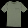 National Athletic Goods - 7oz Jersey Rib Pocket Tee in Army Green