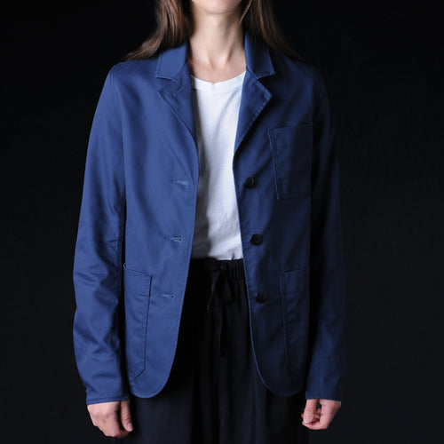 Short Work Jacket in Sax Navy