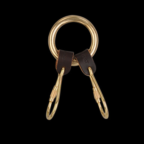 2 Piece Key Ring in Dark Brown
