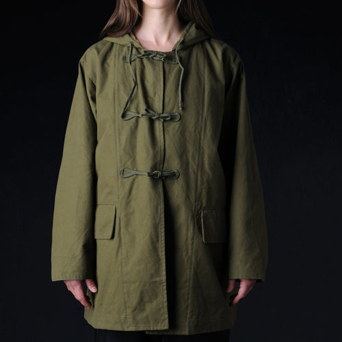 Military Canvas Mountain Shell Parka in Olive Drab
