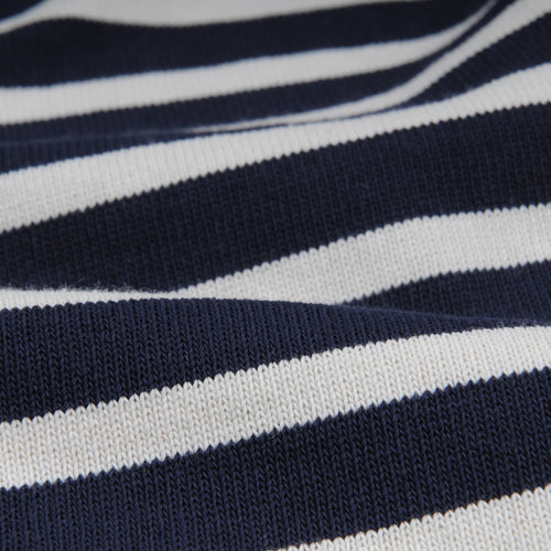 Stripe Long Sleeve Tee in Navy & Ecru