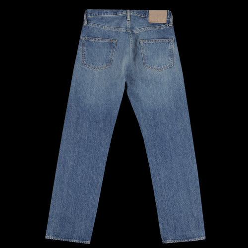 14oz Denim 5 Pocket Loose Straight Jean in Bleach