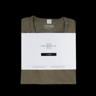 Lady White Co. - Two Pack T-Shirt in Olive