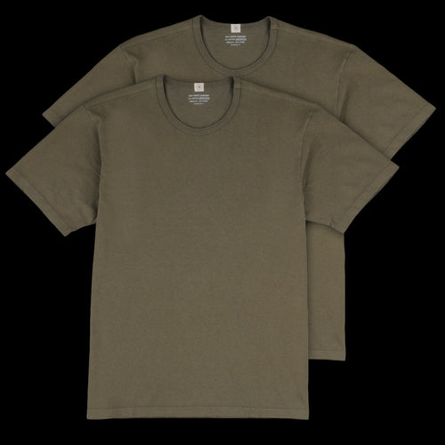 Two Pack T-Shirt in Olive