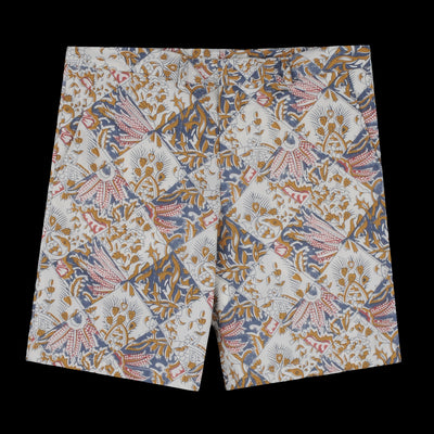 Gitman Vintage - Flat Front Short in Tile Batik