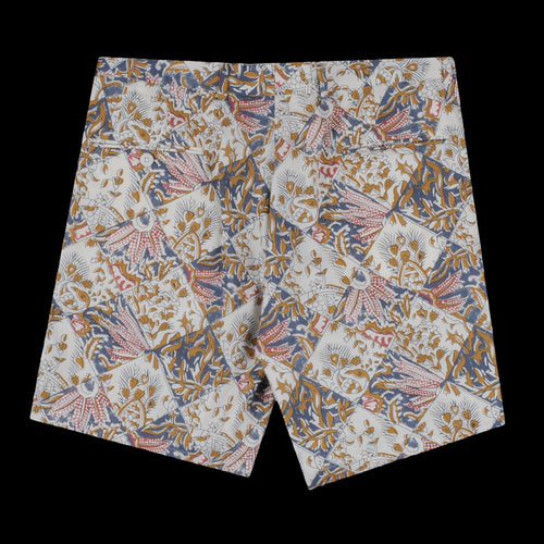 Flat Front Short in Tile Batik