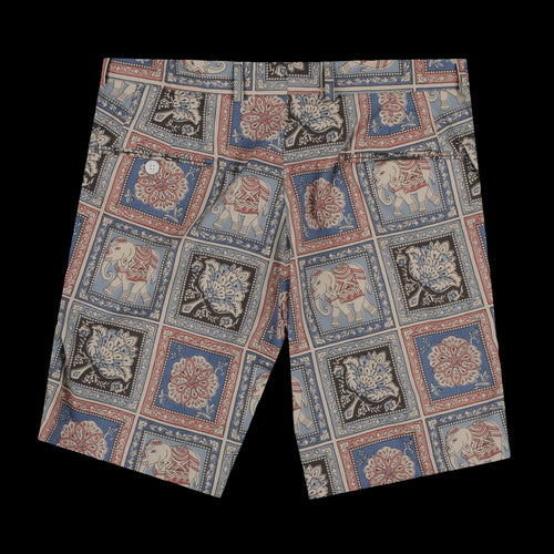Flat Front Short in Elephant Batik