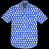 Gitman Vintage - Short Sleeve Button Down Shirt in Polar Bear Blues