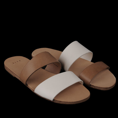 W Asymmetrical Sandal in Seed & Tan