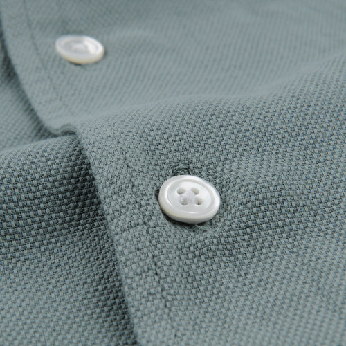 Slam Pat Shirt in Amande Cotton Linen Natte