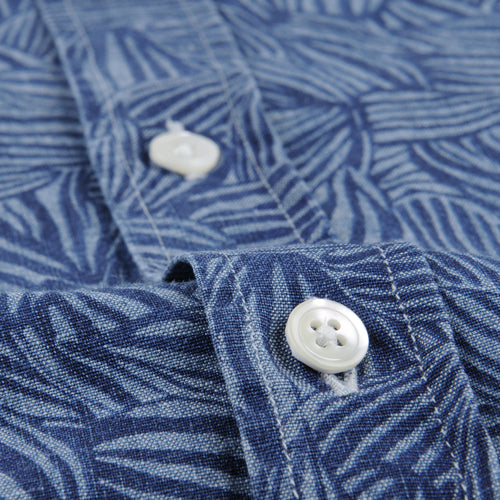 Side Shirt in Leaves Chambray
