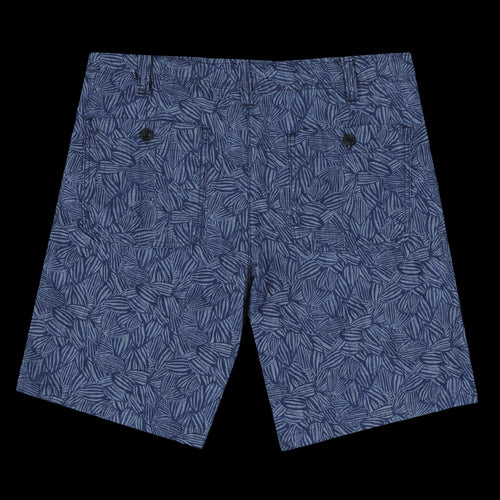 Berry Short in Indigo Chambray Tropical