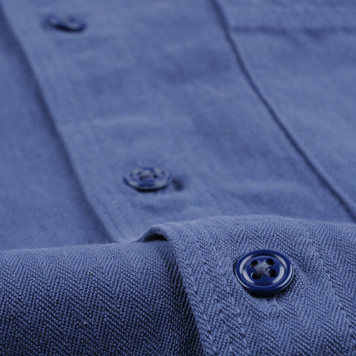 Herringbone Overshirt in Blue