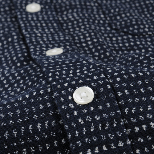 Japanese Dot LS Shirt in Blue