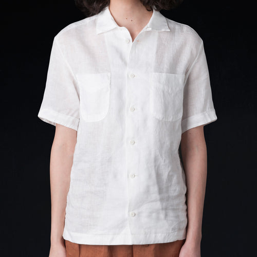 Light Linen Vacation Shirt in White
