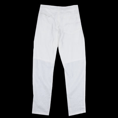 Monitaly - Light Linen Drop Crotch Pants in White