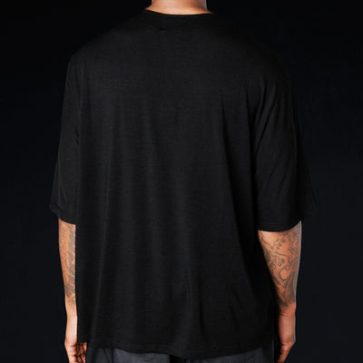 Deveaux - Tencel Dolman Tee in Black