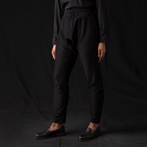 Ultra Fine Terry Drop Rise Sweatpant in Black