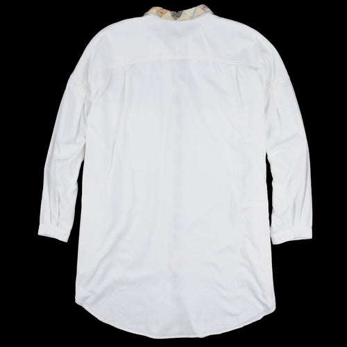 Soft Cotton Twill x Quilt Remake Sloppy Shirt in White