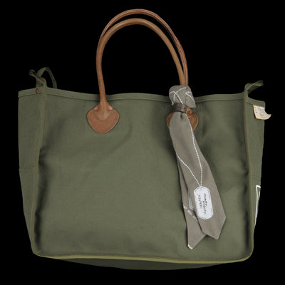 Kapital - Small No. 4 Army Canvas Milk Bag in Khaki