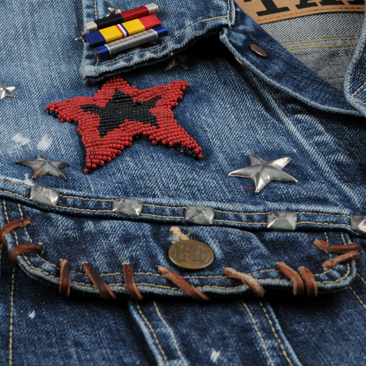 Kapital x Marvel Collection Denim Westerner Jacket in Villains