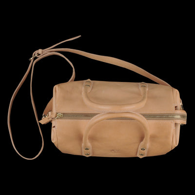 Il Bisonte - Cowhide Boston Bag in Naturale