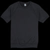 Save Khaki - Short Sleeve Supima Fleece Sweatshirt in Black