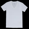 Save Khaki - Supima Layer V Neck Tee in White