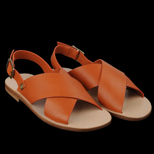 Versilia Cross Sandal in Caramel