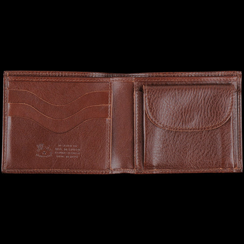 Classic Bi Fold Wallet in Marrone