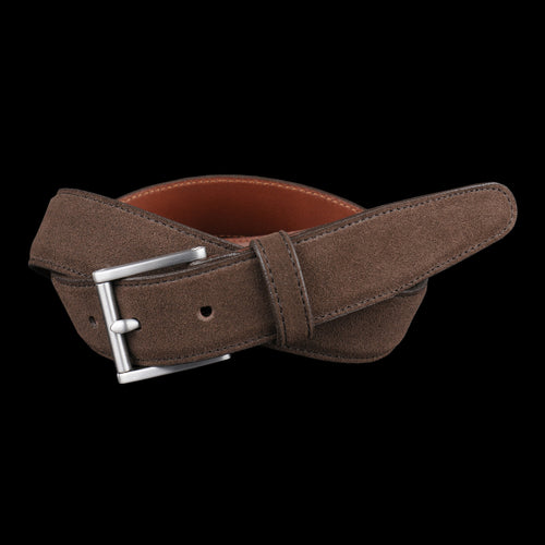 Classic Belt in Dark Brown Suede