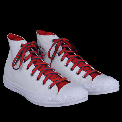 Chuck Taylor All Star Hi in White Gym Red & Navy