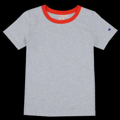 Champion Reverse Weave - Ringer Tee in Heather Grey