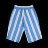 Haversack - Inlay Stripe Knit Short in Blue & White
