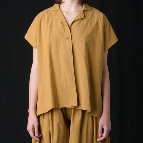 Box Shirt in Mustard