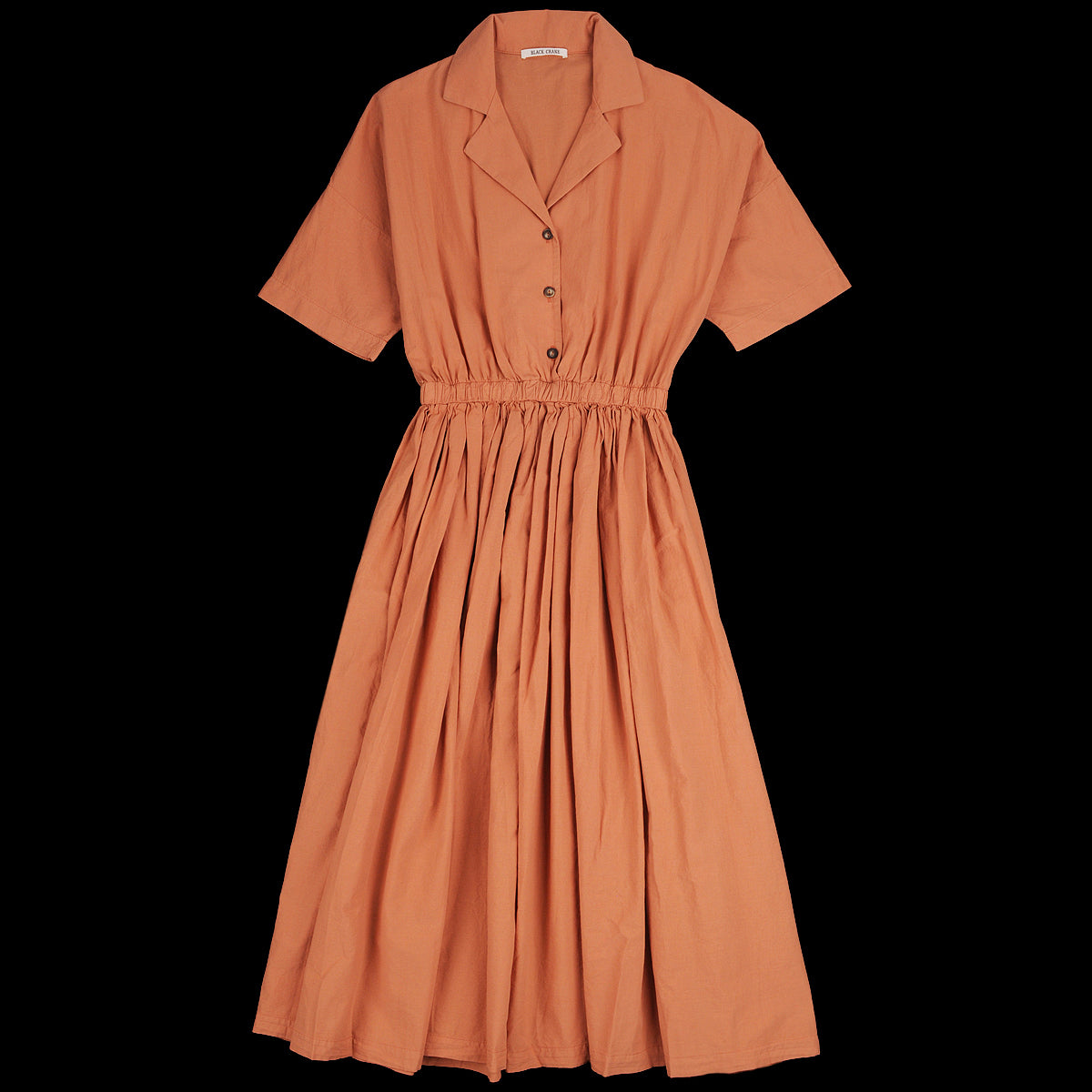 Black Crane Classy Dress In Coral Unionmade