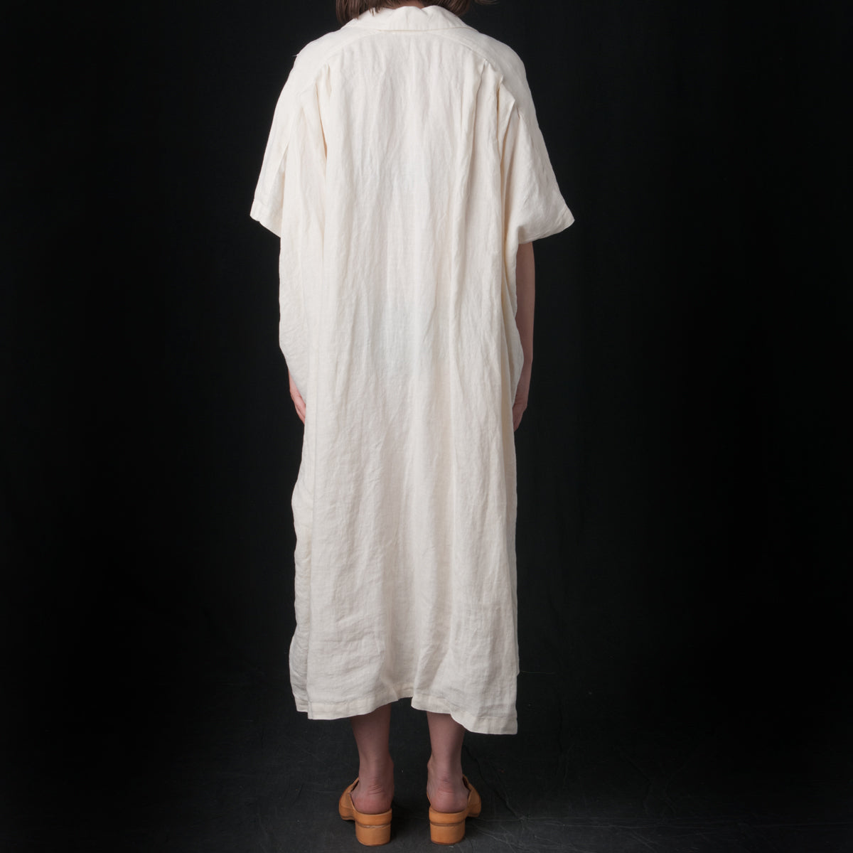 2bf29bc51e4 Black Crane - Kite Dress in Cream - UNIONMADE