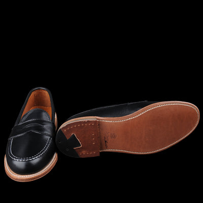 Alden - Brenham Leisure Loafer in Lady Calf Black D6209F